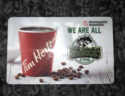 We Are All Humboldt Strong Tim Hortons Gift Card SJHL