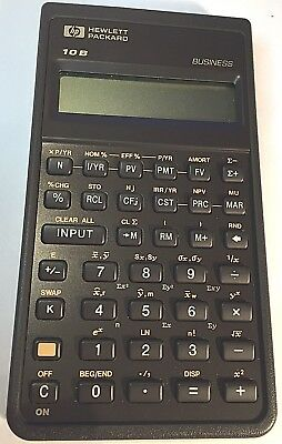 Hewlett Packard HP-10b Calculator  HP leather-like case