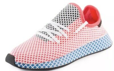3d4c1b506a3ab ADIDAS MENS Originals Deerupt Runner Solar Red Blue Bird CQ2624 ...