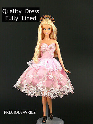 Brand new barbie doll clothes clothing outfit fully lined Quality party dress