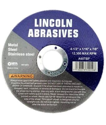 """10 Pack 4-1/2""""x.040""""x7/8"""" Cut-off Wheel - Metal & Stainless Steel Cutting Discs"""