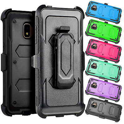 For Samsung Galaxy J2 Core /Dash /Pure Belt Clip Stand Holster Phone Case Cover