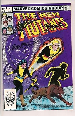 The New Mutants #1 Signed by Chris Claremont, Bob McLeod, (Mar 1983, Marvel)