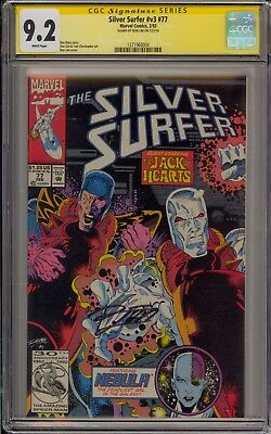 Silver Surfer #77 - Cgc 9.2 - Signed By Ron Lim -  1371960004