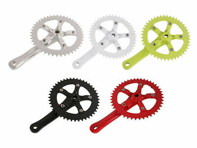 New alloy anodized Single Speed Crank 170mm x 46T fixed gear track pick color