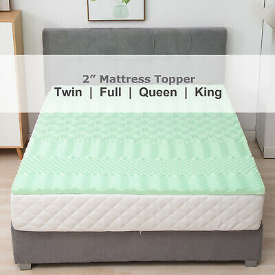 0093a37c8c 2'' inch Comfort Gel Memory Foam Mattress Cover Topper Twin Full Queen King  Size