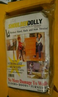 Shoulder Dolly 2-Person Lifting Moving Harness System Move Lift Carry Straps Aid
