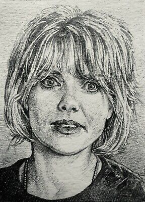 Original ACEO Sketch Card ~STARGATE SG1~ Amanda Tapping ~SAMANTHA CARTER~