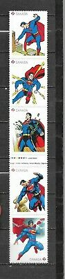 pk41575:Stamps-Canada #2683i Superman 5 x 'P' Rate Strip of 5 - MNH