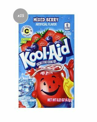 903740 15 x 6.2g PACKETS KOOL AID UNSWEETENED DRINK MIX MIXED BERRY FLAVOUR