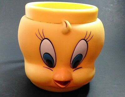 Tweety Bird Coffee Mug Cup Looney Tunes 3D Hard Plastic KFC Promotional 1992
