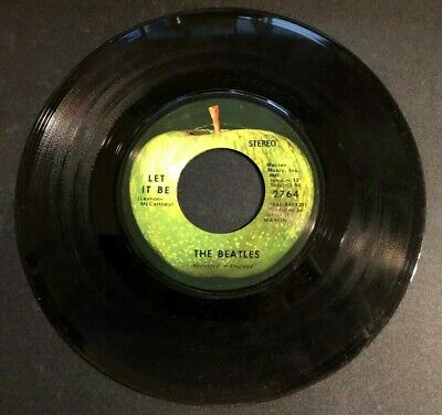 The BEATLES Let it Be - You Know My Name (Look Up My #) APPLE 1970 45 rpm #2764