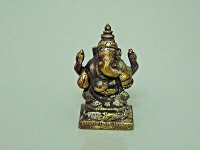 Old Brass Collectible Hindu Diety God Lord Ganesha Decorative Sculpture 611 #11
