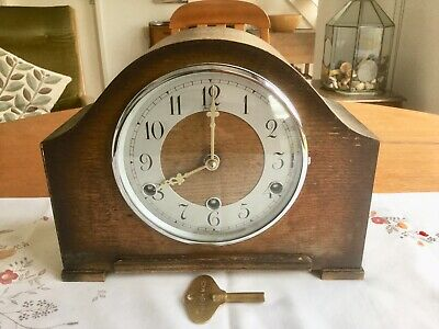 Vintage 'bentima'  Westminster Chiming Mantel Clock - Working With Key
