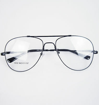 81c5d87513 Memory Titanium-alloy Full-flex Large Size Pilot Optical Eyeglass Frame Rx -able