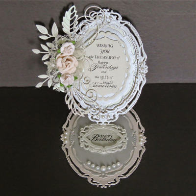 7 Pcs/lot Oval Metal Cutting Dies Stencils Scrapbook Embossing Craft Photo Frame