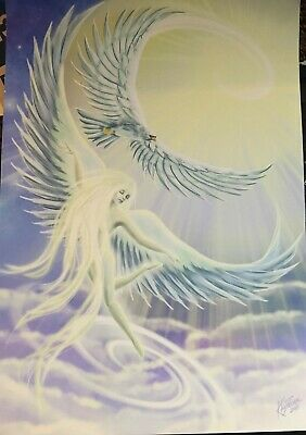 'Element of Air' A4 Print *NEW Angels, Spiritual, Pagan, Metaphysical, fairy,