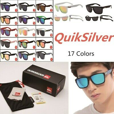 HOT With Box QuikSilver 17 Colors Stylish Men Women Outdoor Sunglasses UV400 731