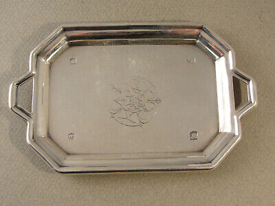 Unusual Miniature English Silver TEA TRAY. Hallmarked Sheffield 1971
