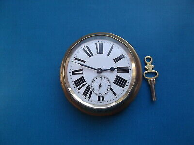 Miniature Brass Wall Clock