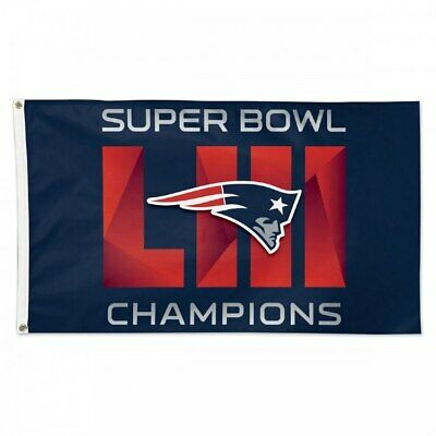 New England Patriots 6x Times SUPER BOWL 53 CHAMPIONS FLAG 3x5 BANNER
