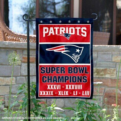 2018/19 New England Patriots 6x Times SUPER BOWL 53 CHAMPIONS FLAG 3x5 BANNER