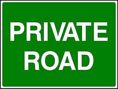 Road Traffic Sign Private Road