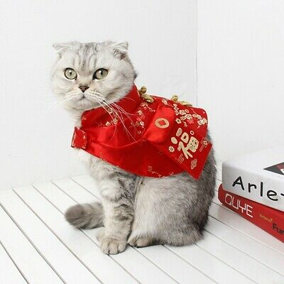 Pet Cat Dog New Year Costume Chinese Style Tang Dynasty Dress Festival Cloak AU