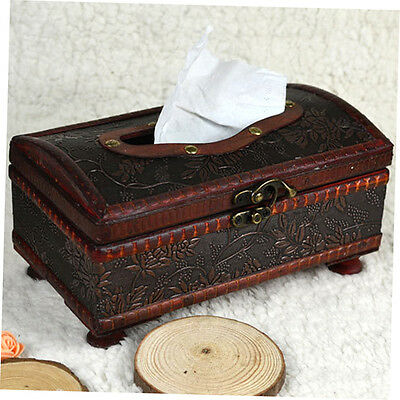 Elegant Crafted Wooden Antique Handmade Old Tissue Box Antique Tissue Box zpEE