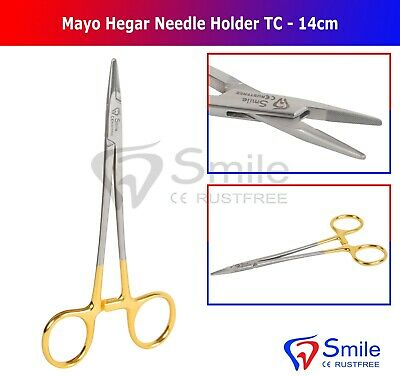 TC Mayo Hegar Needle Holder Forcep 14CM Dental Surgical Instrument Smile Dentale