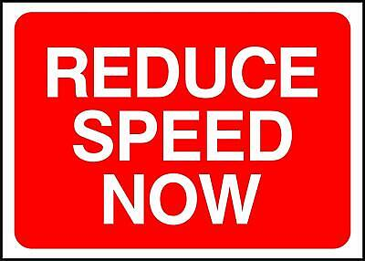 Reduce Speed Now Road Safety Sign