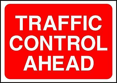 Warning Traffic Control Ahead Road Safety Sign