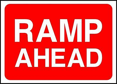 Warning Ramp Ahead Road Safety Sign