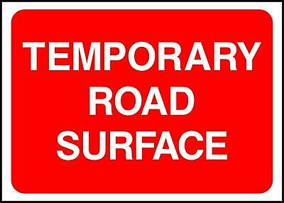 Warning Temporary Road Surface Road Safety Sign