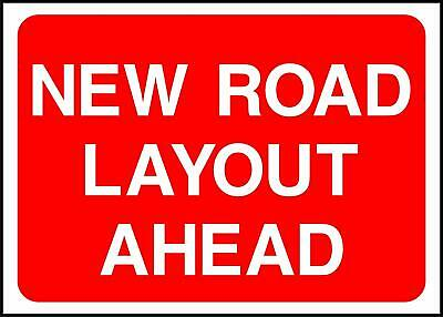 Warning New Road Layout Road Safety Sign