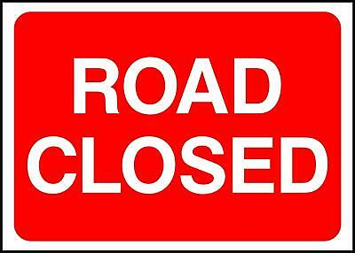 Road Closed Road Safety Sign