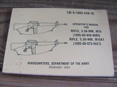 OPERATOR'S MANUAL~TM 3-4240-279-10~DEPT of the Army - $3 49