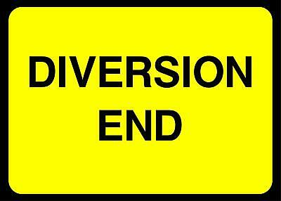 Diversion End Temporary Warning Road safety sign