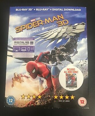 Spider-Man: Homecoming (3D ) [Blu-Ray] New Sealed