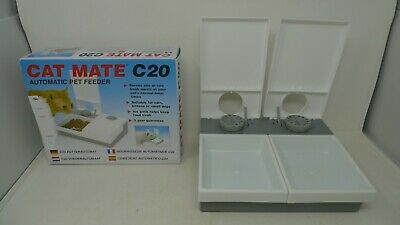 CAT MATE C20 automatic pet feeder two bowl and timer NEW boxed *