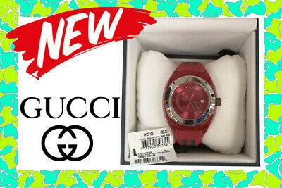 53383c6a709 NEW GENUINE Gucci SYNC XXL Red Rubber Strap 46mm Unisex Watch YA137103