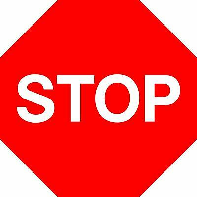 Stop and give way Road safety sign - 3mm Aluminium sign fitted with 2 strips