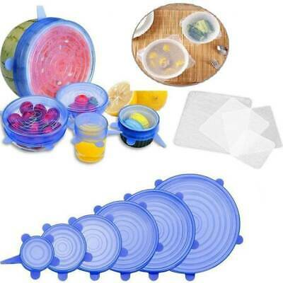 Silicone Stretch Lids And Bowl Covers,The Perfect Combination,Reusable, Dus W8C9