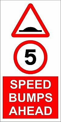 5 MPH Speed Limit Safety Sign - 3mm Aluminium sign fitted with 2 strips