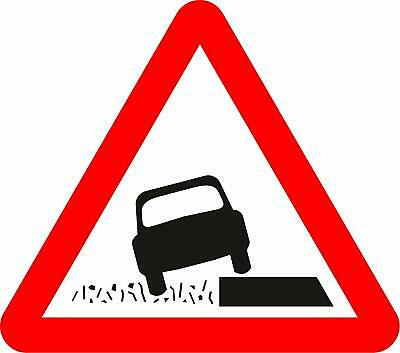 Soft verges Road safety sign