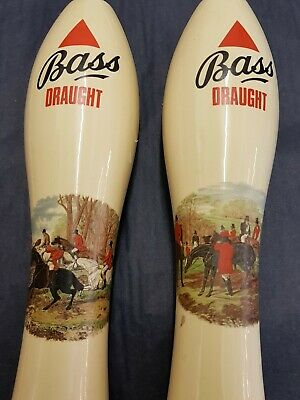 Vintage Bass Draught Beer Pump Hand Pull Pair