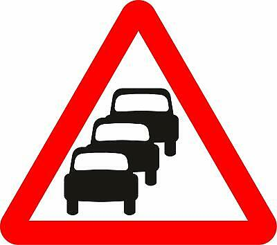 Traffic queues likely ahead Road safety sign