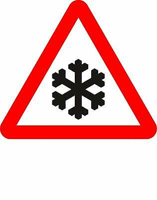 Risk of ice Road safety sign