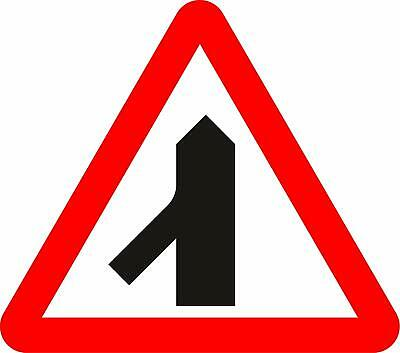 Traffic merging from left ahead Road safety sign
