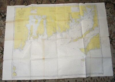 1963 Nautical Training Chart -- MARTHA'S VINEYARD to Block Island -- Newport, RI